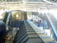 The construction of the bulk and installation of technological equipment of waste sorting station