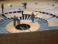 Installation of steel structures of  grout thickener building for Karpatnaftakhim, LLC