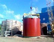 installation of tanks